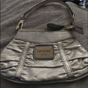 Guess Satchel handbag, animal print